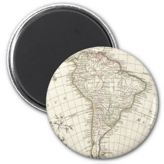 Vintage Map of South America (1762) Magnet
