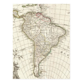Vintage Map of South America (1762) Postcard