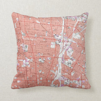 Vintage Map of South Gate California (1964) Throw Pillow