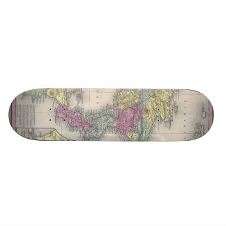 Vintage Map of Southern Italy (1853) Custom Skate Board