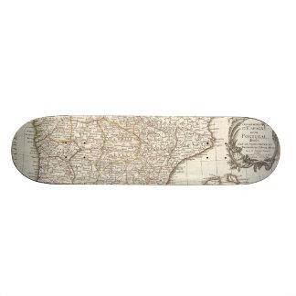 Vintage Map of Spain (1775) Skate Board Deck
