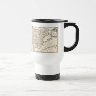 Vintage Map of Spain (1775) Travel Mug