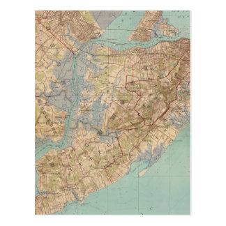 Vintage Map of Staten Island (1891) Postcard