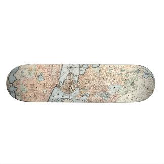 Vintage Map of Stockholm (1733) Skate Boards