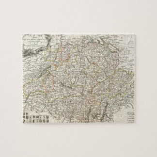 Vintage Map of Switzerland (1771) Jigsaw Puzzle