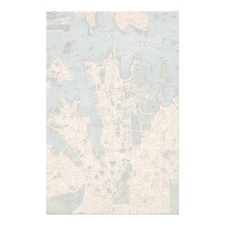 Vintage Map of Sydney Stationery