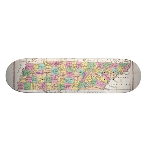 Vintage Map of Tennessee (1827) Skateboard Decks