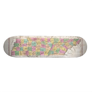 Vintage Map of Tennessee (1827) Skateboard Deck