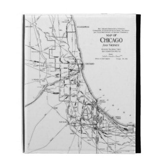 Vintage Map of The Chicago Railroad Network (1913) iPad Folio Cover