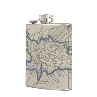 Vintage Map of The Dominican Republic (1750) Flask