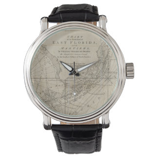 Vintage Map of The Florida Keys (1771) Wristwatches