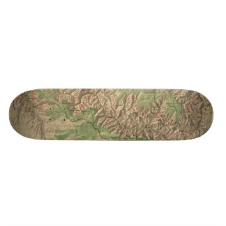 Vintage Map of The Grand Canyon 1926 Custom Skate Board