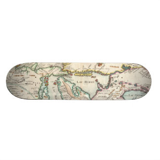 Vintage Map of The Great Lakes (1755) Skateboard Deck