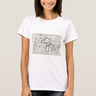 Vintage Map of the Great Lakes, 17th Century T-Shirt