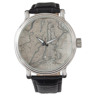 Vintage Map of The New England Coast (1747) Wristwatch