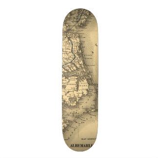 Vintage Map of The North Carolina Coast (1887) Custom Skateboard
