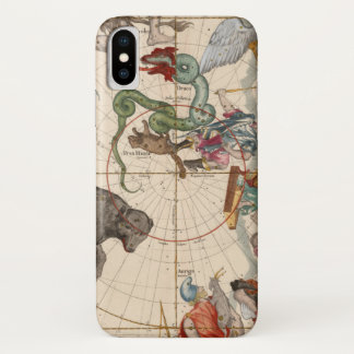 Vintage Map of the North Pole iPhone X Case