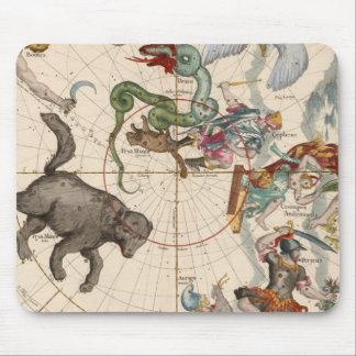 Vintage Map of the North Pole Mouse Pad