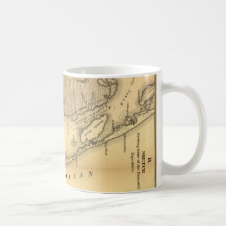 Vintage Map of The Outer Banks (1862) Basic White Mug
