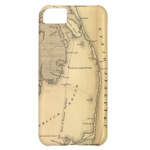 Vintage Map of The Outer Banks (1862) iPhone 5C Cover