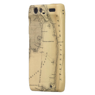 Vintage Map of The Outer Banks (1862) Motorola Droid RAZR Covers