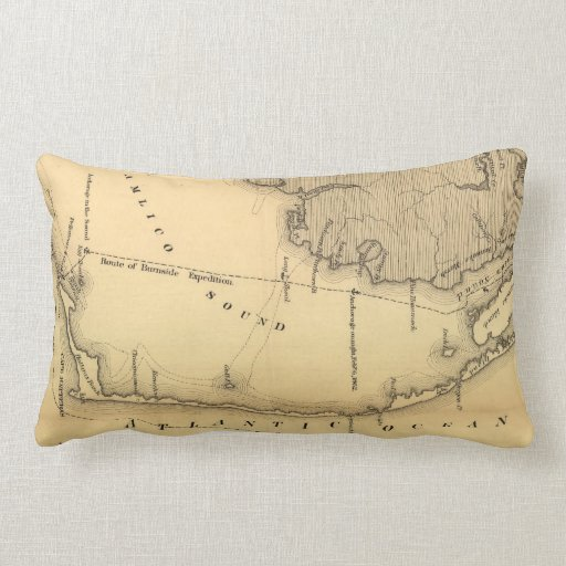 Vintage Map of The Outer Banks (1862) Pillows