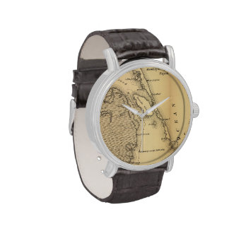 Vintage Map of The Outer Banks (1862) Wristwatch