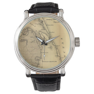 Vintage Map of The Outer Banks (1862) Wrist Watch