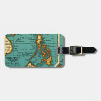 Vintage Map of the PHILIPPINES  Luggage Tag
