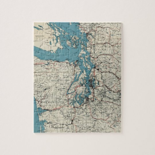 Vintage Map of The Puget Sound (1919) Jigsaw Puzzle