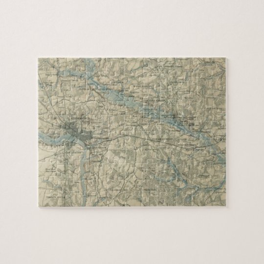 Vintage Map of The Richmond Virginia Area (1864) Jigsaw Puzzle