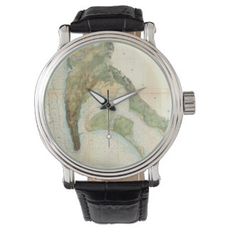 Vintage Map of The San Diego Bay (1857) Wristwatches