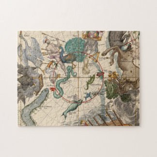 Vintage Map of the South Pole Jigsaw Puzzle