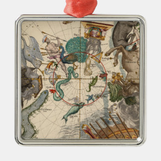 Vintage Map of the South Pole Metal Ornament
