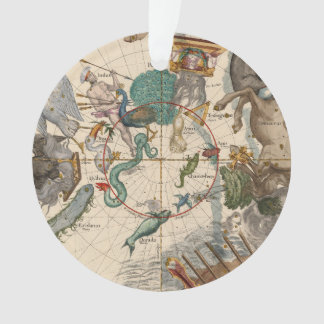 Vintage Map of the South Pole Ornament