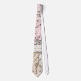 Vintage Map of The Strait of Gibraltar (1780) Tie