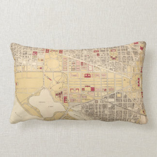 Vintage Map of The Washington D.C. Mall (1917) Lumbar Pillow