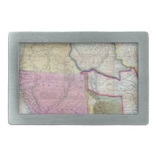 Vintage Map of The Western United States (1846) Belt Buckles