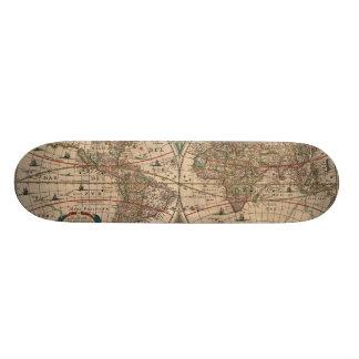Vintage Map of The World (1641) Skate Deck