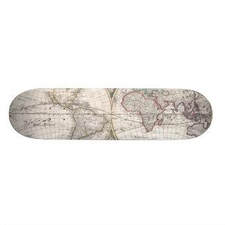 Vintage Map of The World (1685) Custom Skateboard