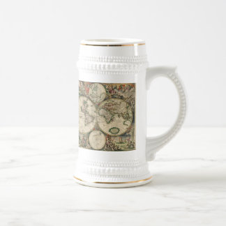 Vintage Map of The World (1689) Mugs