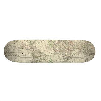 Vintage Map of The World (1691) Skate Board Deck