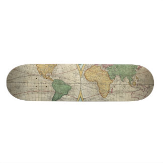 Vintage Map of The World (1744) Skate Board