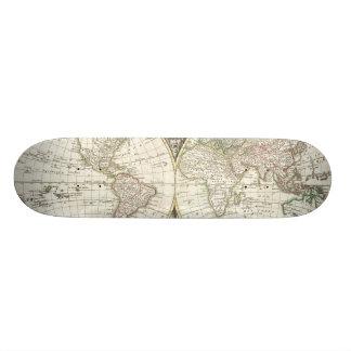 Vintage Map of The World (1775) Custom Skateboard