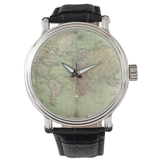 Vintage Map of The World (1778) Wrist Watches