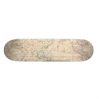 Vintage Map of The World (1799) Skate Boards