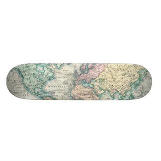Vintage Map of The World (1801) Custom Skate Board