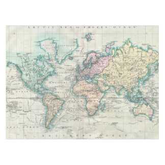 Vintage Map of The World (1801) Tablecloth