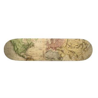 Vintage Map of The World (1831) Skateboard Deck