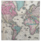 Vintage Map of The World (1852) Napkin